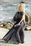 Claudia Schiffer See-Through Dress at Photoshoot for Chanel in St. Tropez Foto 570 (������� ������ See-Through ������ ���������� ��� ������ � ���-����� ���� 570)