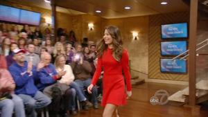 Miranda Cosgrove -- Live with Kelly & Michael,  December 28, 2012 - 720p  mp4  caps -- Legs