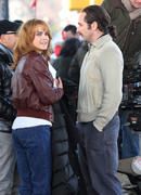 "Keri Russell on the set of ""The Americans"" in Queens 02/19/14"