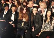 Kim, Kourtney, Khloe Kardashian, Kris and Kendall Jenner @ Dancing with the Stars 11/21/11